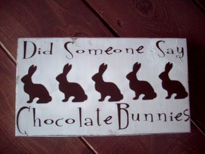 Chocolate bunny wood board