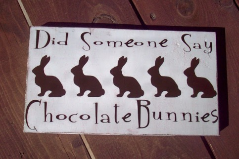 Chocolate Bunnies wood board